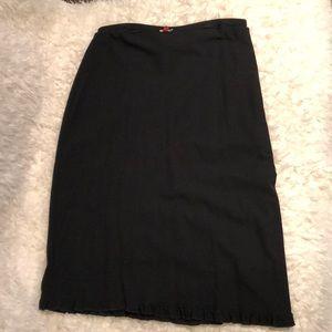 Express stretch ruffle bottom skirt